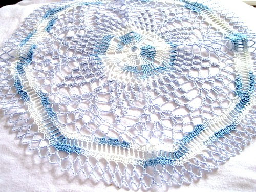 Colored Doilies Lovely Medium Blue and White Variegated Colored Hand Crocheted Of Gorgeous 42 Pics Colored Doilies