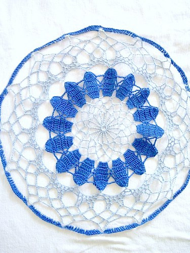 Colored Doilies New Dark Blue Light Blue Colored Hand Crocheted Round Doily 13 Of Gorgeous 42 Pics Colored Doilies