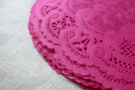 Colored Paper Doilies Awesome 8 Fancy French Lace Colored Fuchsia Paper Doilies by Of Innovative 43 Ideas Colored Paper Doilies