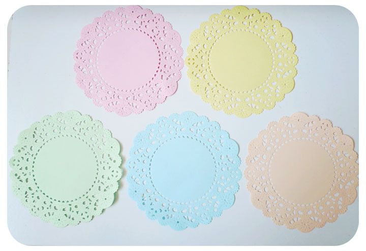 Colored Paper Doilies Inspirational Pastel Colored English Doily Paper Pack On Luulla Of Innovative 43 Ideas Colored Paper Doilies