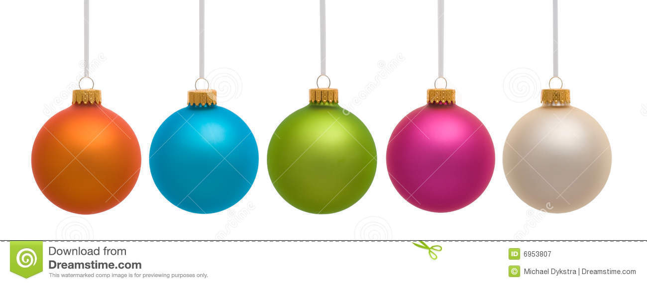Colorful Christmas ornaments Awesome Colorful Christmas ornaments White Royalty Free Stock Of Perfect 48 Pictures Colorful Christmas ornaments