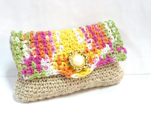Cotton Acrylic Blend Yarn Inspirational Colorful Crocheted Purse In Cotton Acrylic Blend Yarn Of Brilliant 47 Pics Cotton Acrylic Blend Yarn