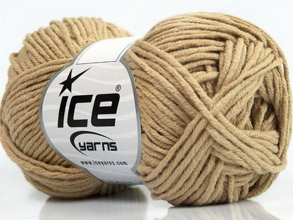 Items similar to Light Camel Worsted Cotton Acrylic Blend
