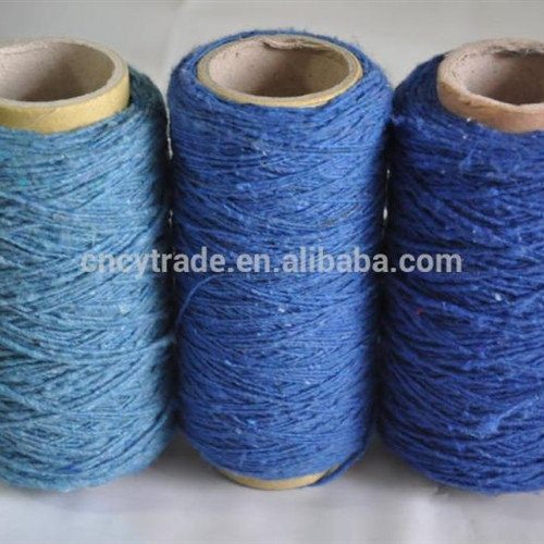 cotton polyester blend or acrylic polyester blend yarn cheap price double carpet yarn 1713