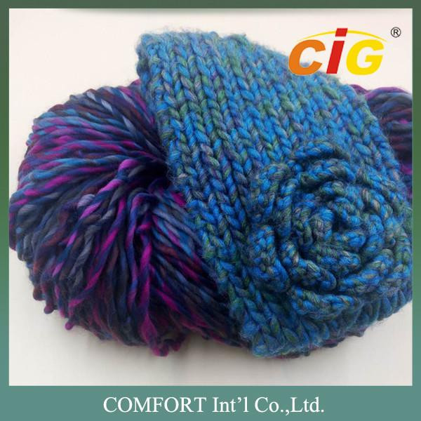 100 Acrylic Cotton Wool Colorful Yarn Knitted For
