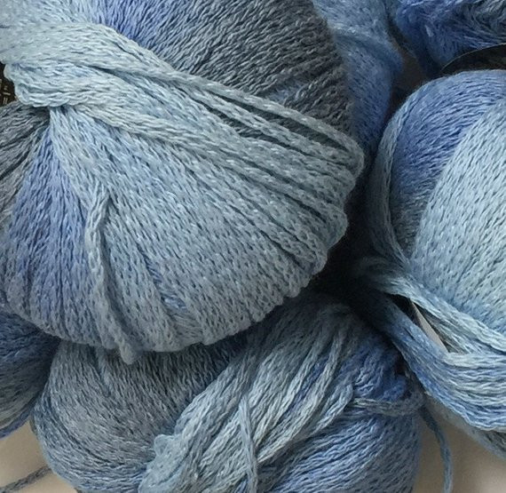 Belle Colour by Plymouth Yarns cotton acrylic blend yarn Blue