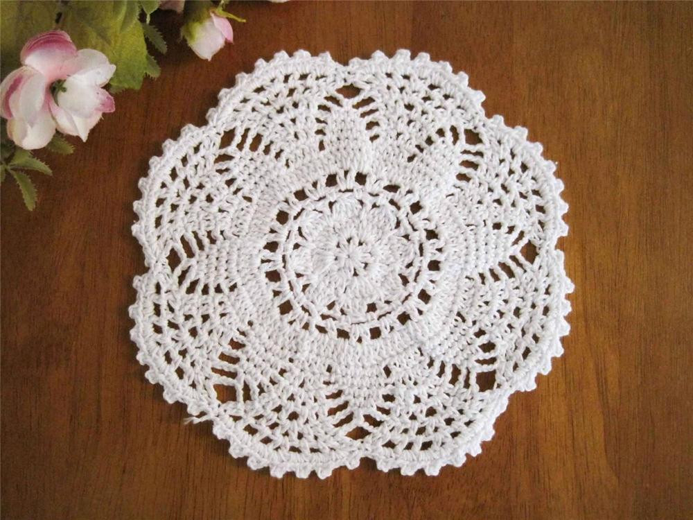 Cotton Doilies Awesome Chic Flower Hand Crochet Cotton Round Doily White B Of Brilliant 44 Photos Cotton Doilies