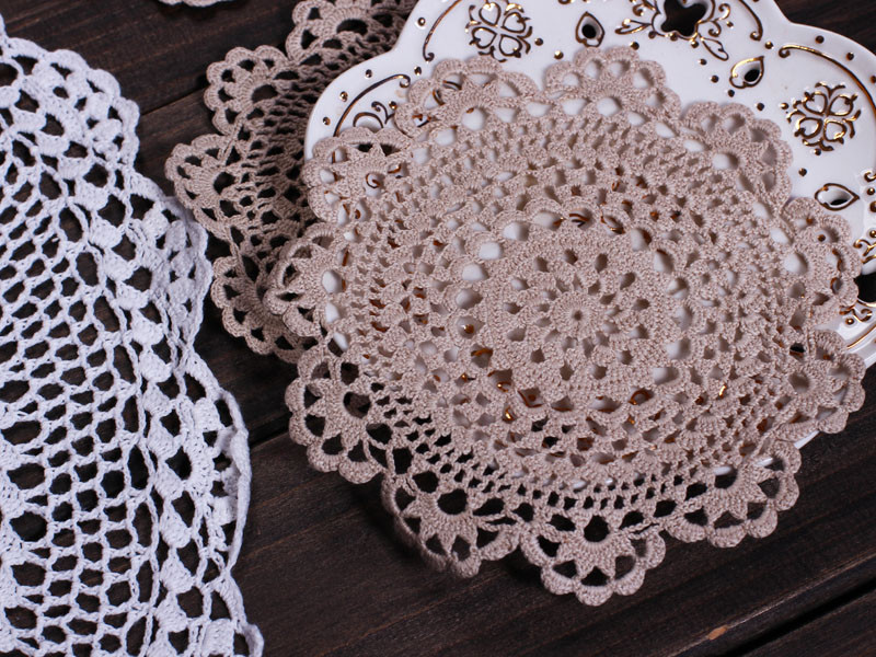 cotton crochet lace doilies [4011] Tablecloth wholesale