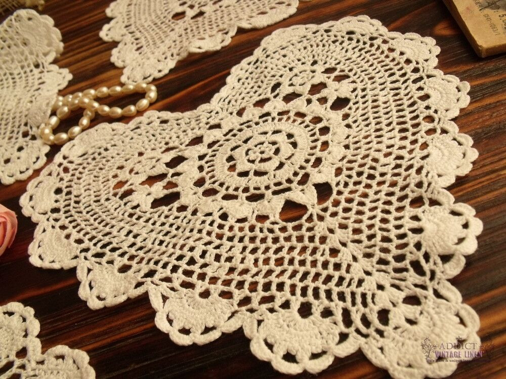 Cotton Doilies Beautiful Set Of 4pc Vintage Hand Crochet Doily Lot Cotton Lace Of Brilliant 44 Photos Cotton Doilies