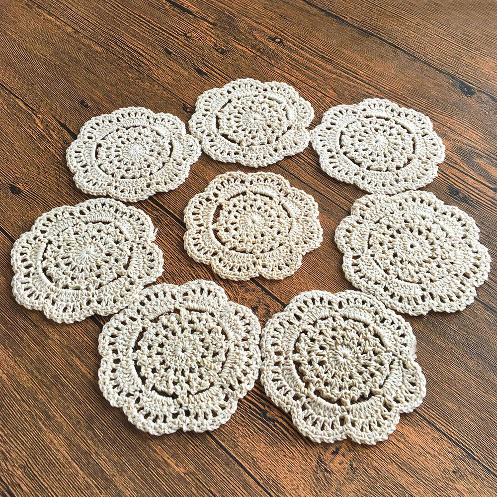 Cotton Doilies Best Of 4 Set 8 Set 4 Round Handmade Cotton Crochet Lace Doilies Of Brilliant 44 Photos Cotton Doilies