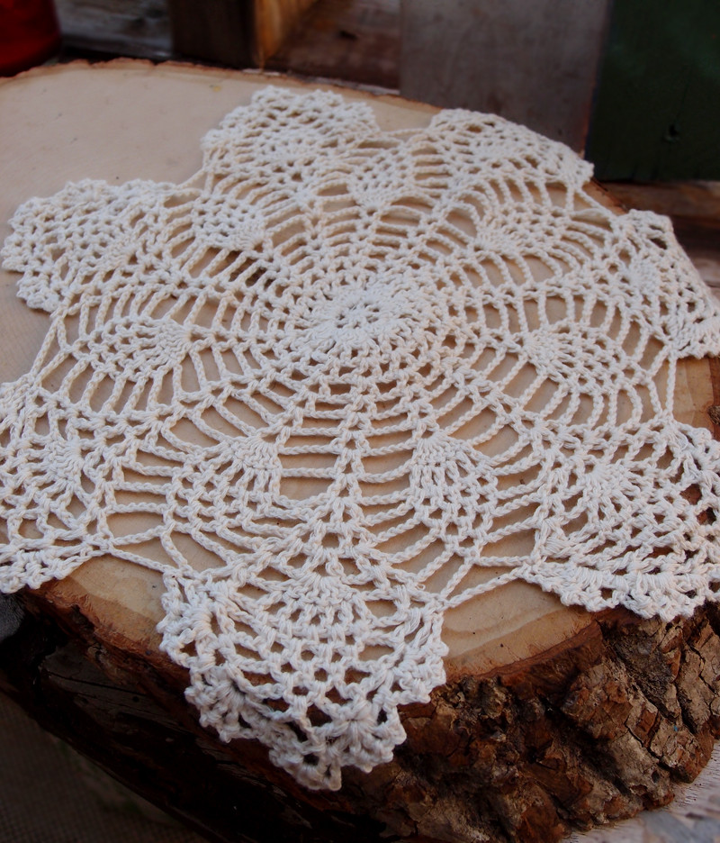 "Cotton Doilies Elegant 12"" Bloom Shaped Handmade Cotton Crochet Doilies Beige Of Brilliant 44 Photos Cotton Doilies"