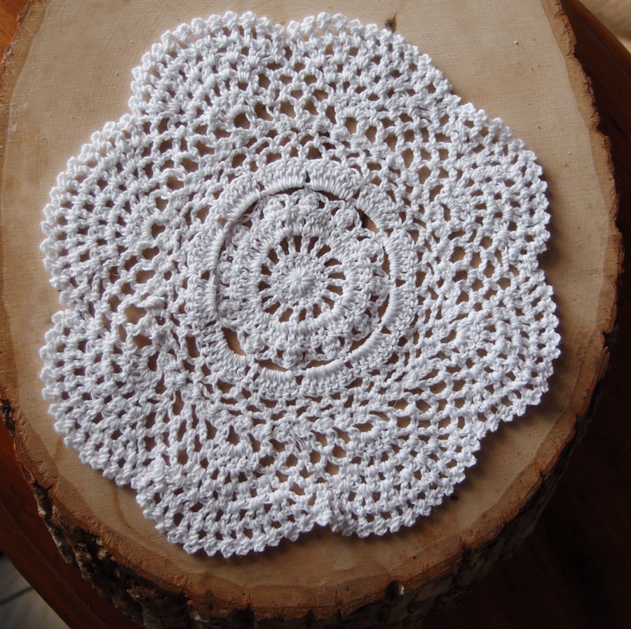 "Cotton Doilies Elegant 8"" Round Handmade Cotton Crochet Doilies White 2 Pack Of Brilliant 44 Photos Cotton Doilies"