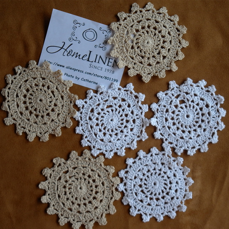 Cotton Doilies Fresh 24pcs Lot wholesale Hand Made Lace Crochet Cup Mat Cotton Of Brilliant 44 Photos Cotton Doilies