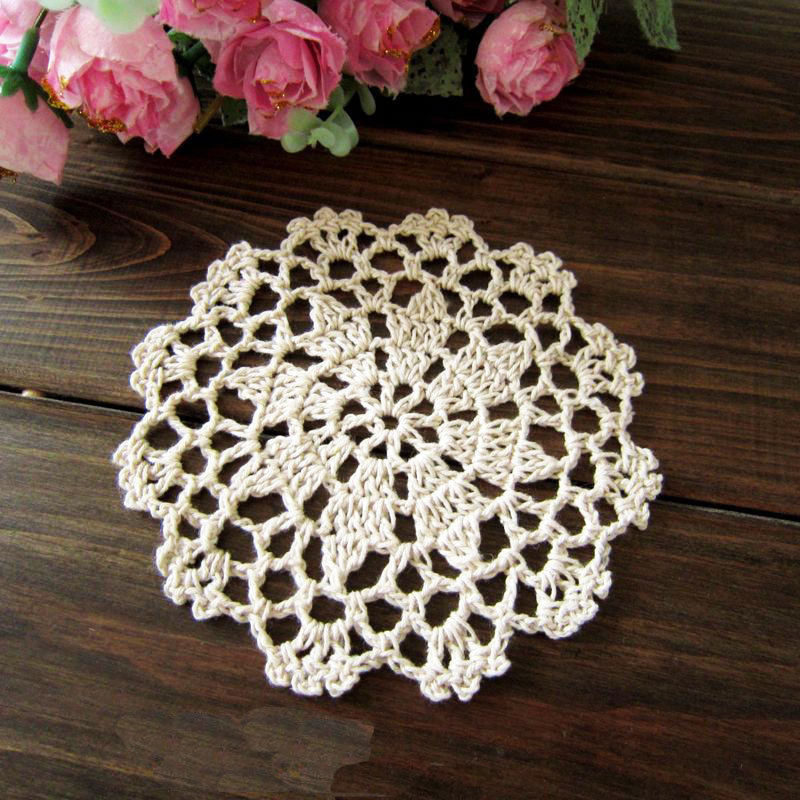 Cotton Doilies Inspirational Chic Hand Crochet Flower Cotton Round Beige Doily Of Brilliant 44 Photos Cotton Doilies