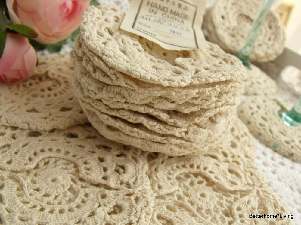 Cotton Doilies Lovely 1 Dozen 12 Vtg Crochet Cotton Doily Coaster Cup Cover Of Brilliant 44 Photos Cotton Doilies