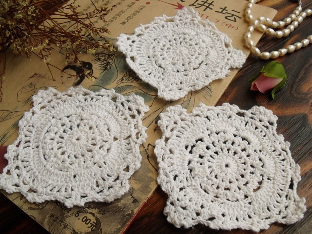 Cotton Doilies Luxury 3pcs Lot Vintage Hand Crochet Lace Doily White Cotton Of Brilliant 44 Photos Cotton Doilies