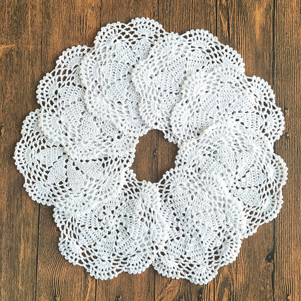 Cotton Doilies New 4 Set 8 Set 8 Round Handmade Cotton Crochet Lace Doilies Of Brilliant 44 Photos Cotton Doilies