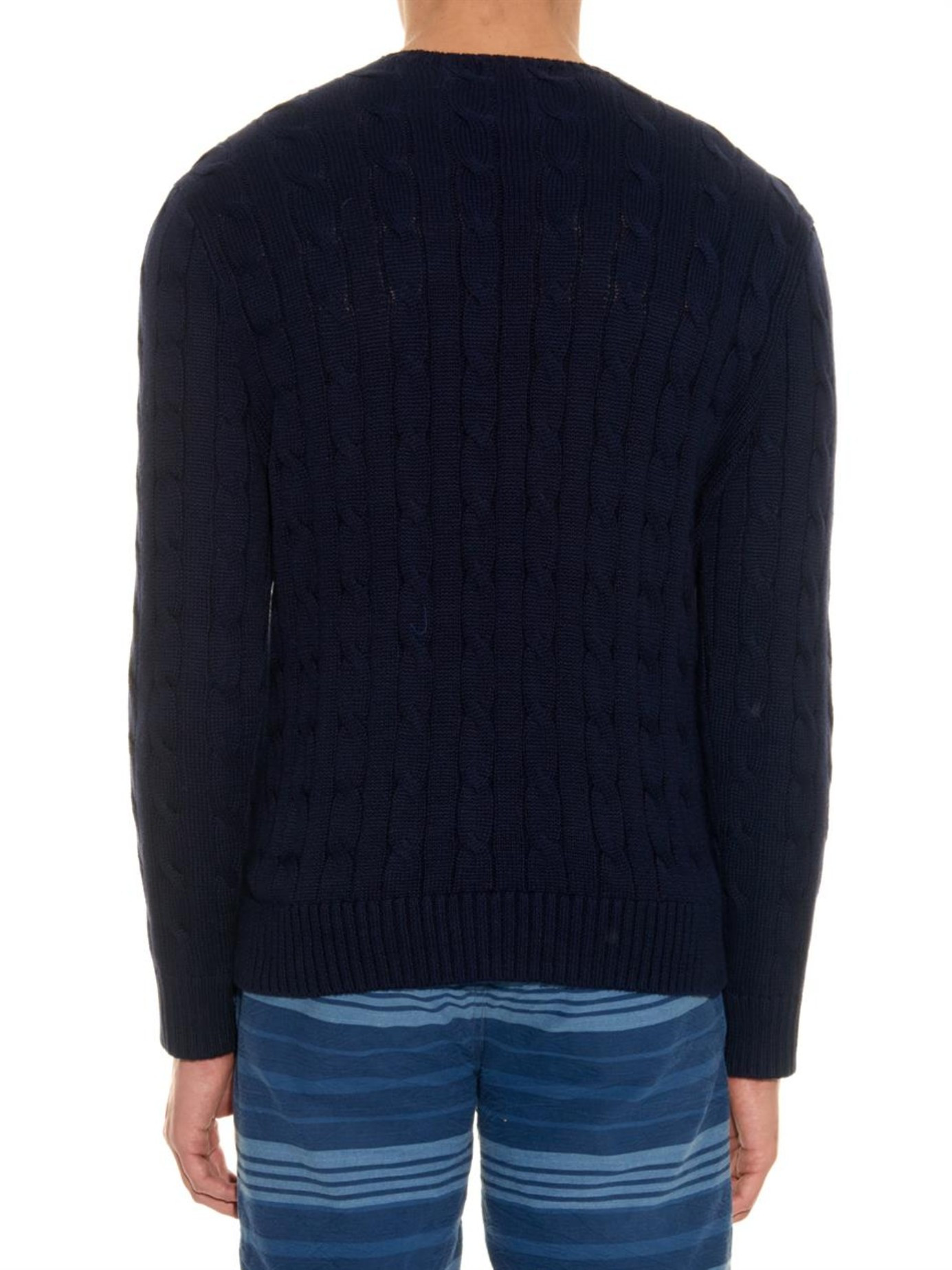 Cotton Knit Fresh Polo Ralph Lauren Cable Knit Cotton Sweater In Blue for Of Marvelous 41 Ideas Cotton Knit