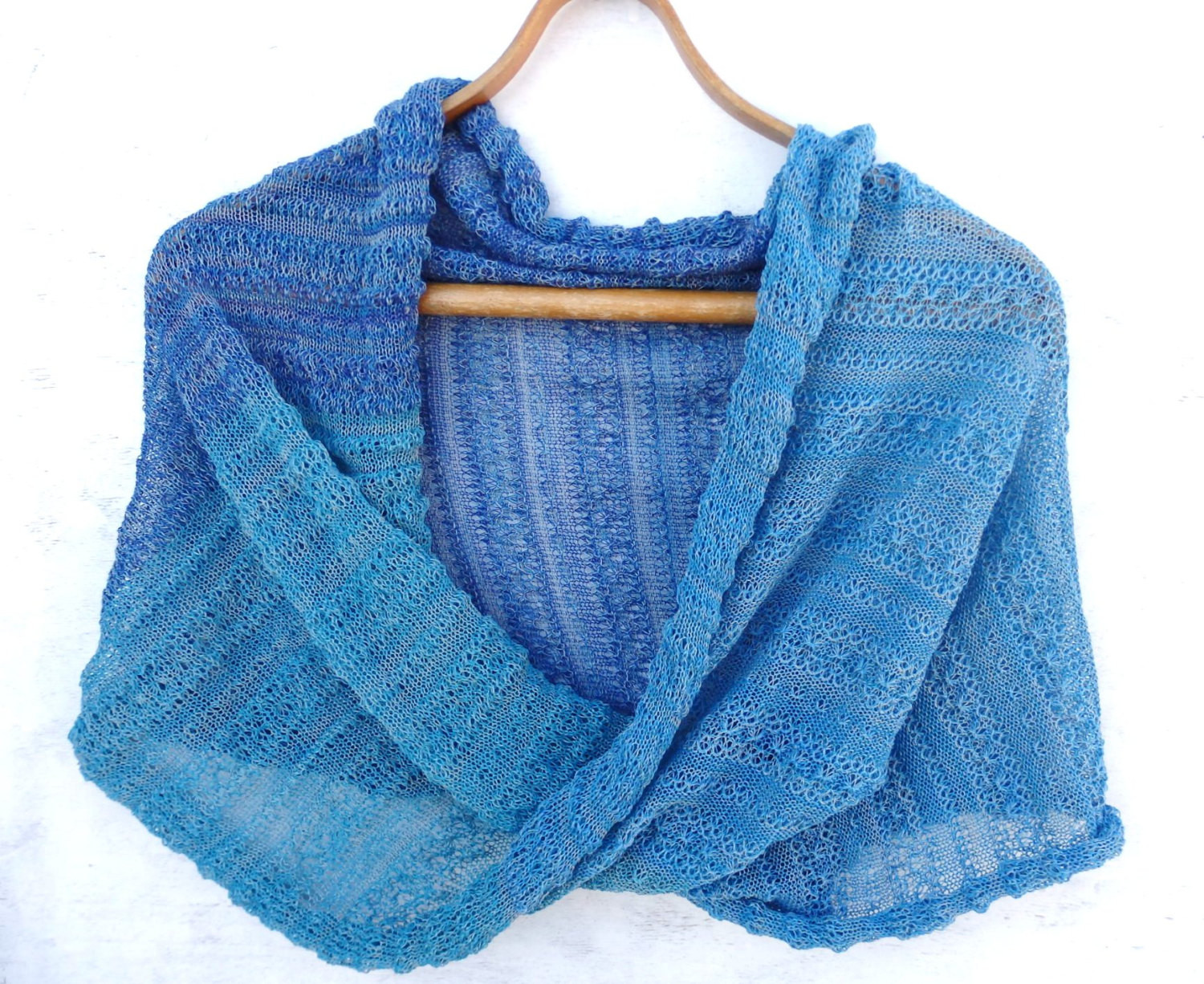 Knit cotton infinity scarf knitted cotton wrap circle shawl