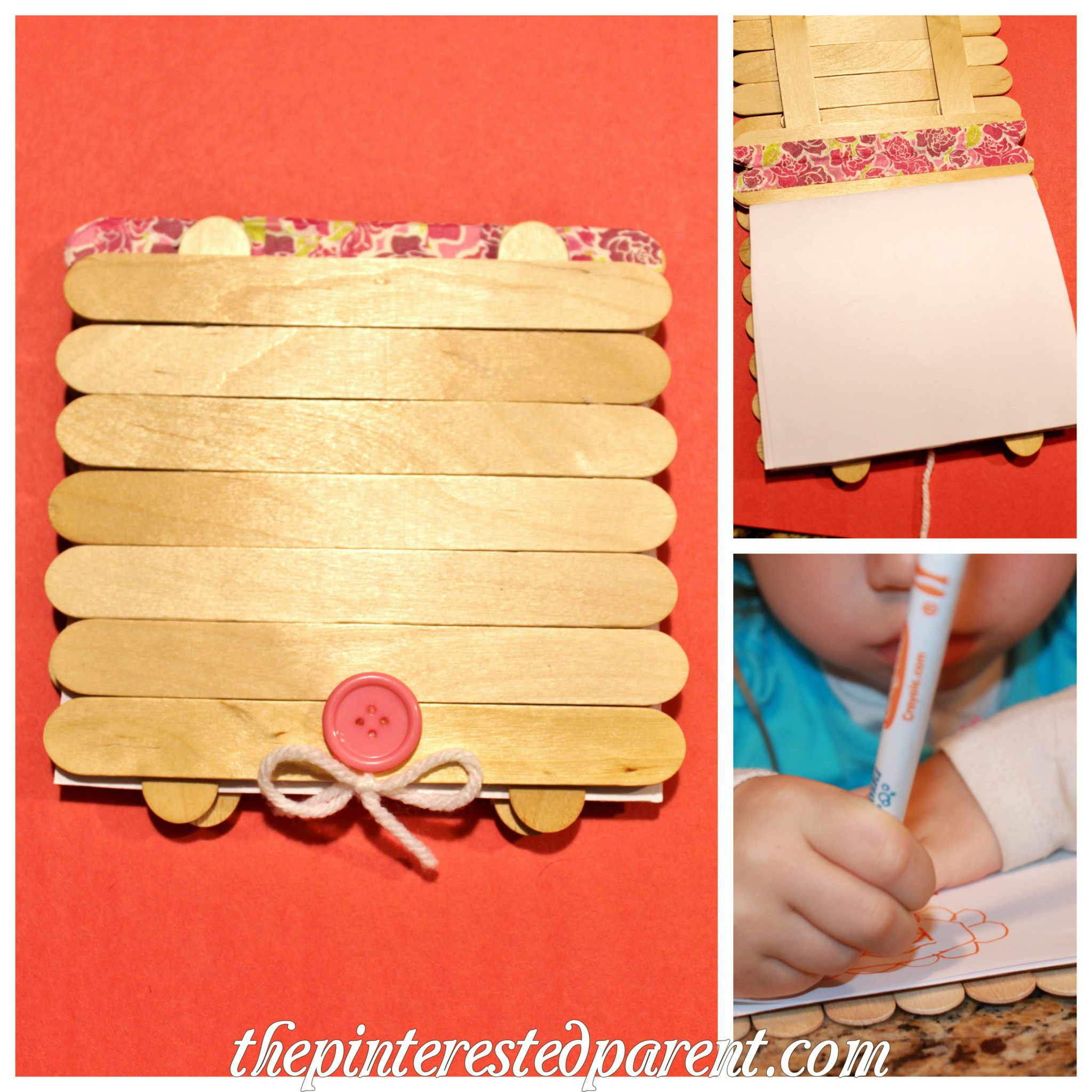 Popsicle Stick Art Journal – The Pinterested Parent