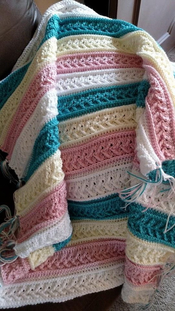 45 Quick And Easy Crochet Blanket Patterns For Beginners