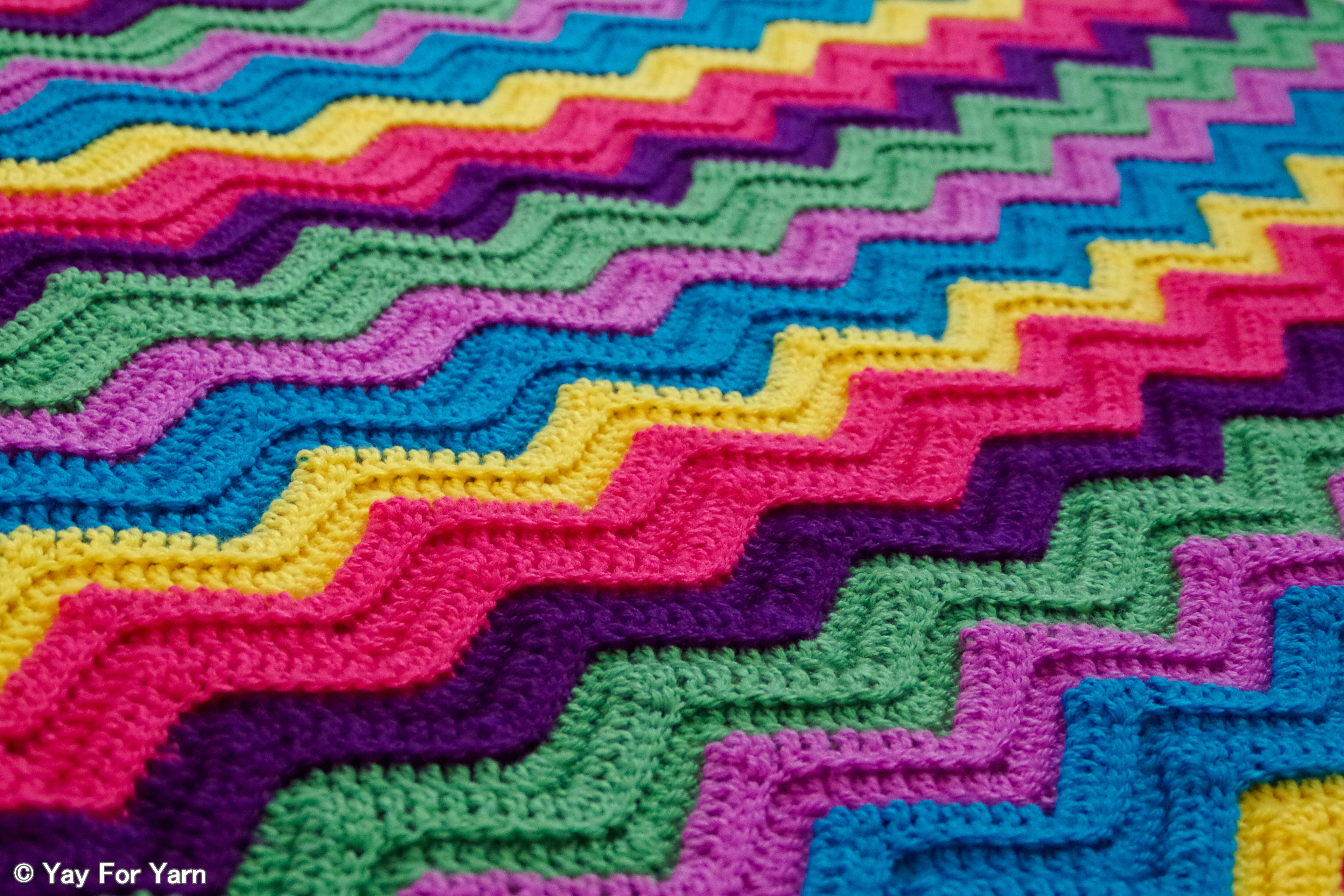 Crochet Afghan Patterns Best Of Rainbow Ridge Afghan – Free Crochet Pattern – Yay for Yarn Of New 40 Pics Crochet Afghan Patterns