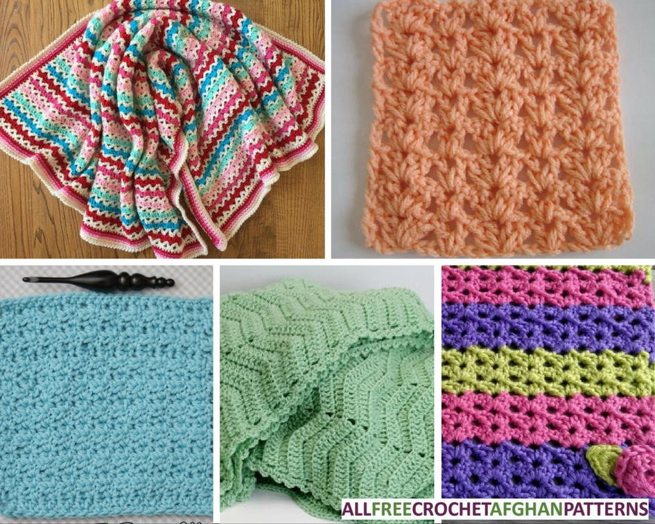 45 V Stitch Crochet Afghan Patterns