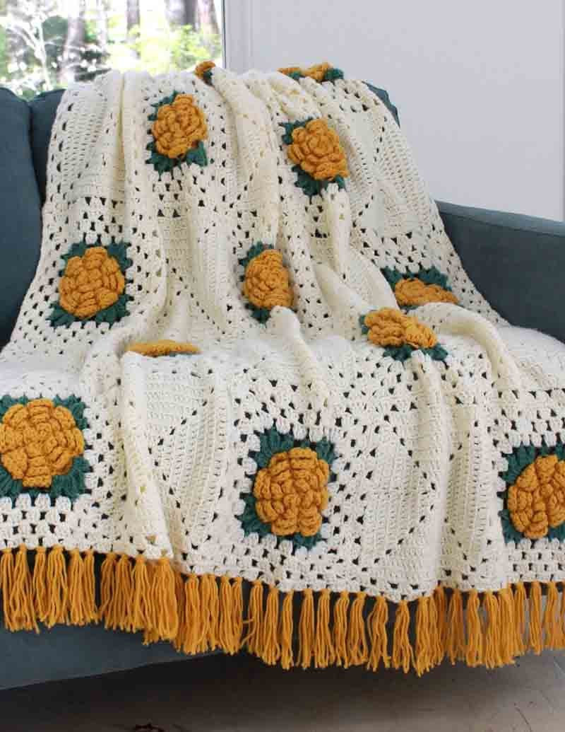 Crochet Afghan Patterns with Pictures Inspirational Fashion Rose Afghan Crochet Pattern – Maggie S Crochet Of Gorgeous 43 Photos Crochet Afghan Patterns with Pictures