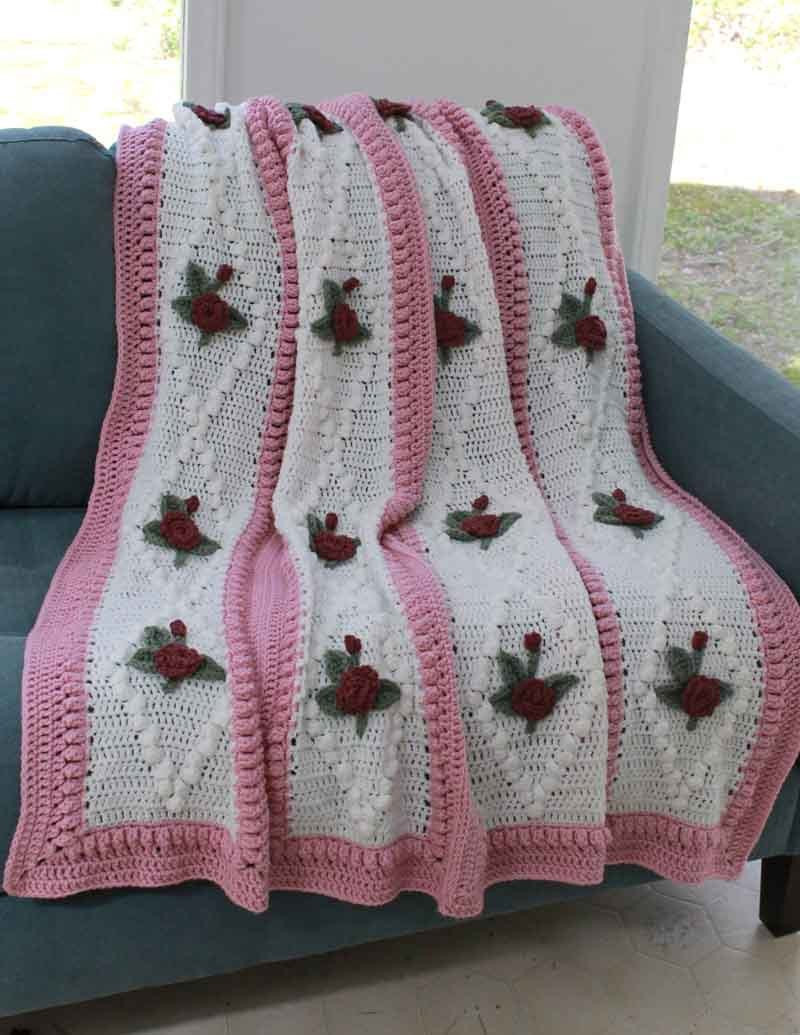 Crochet Afghan Patterns with Pictures Luxury Vintage Diamond Rose Afghan Crochet Pattern Pdf Of Gorgeous 43 Photos Crochet Afghan Patterns with Pictures