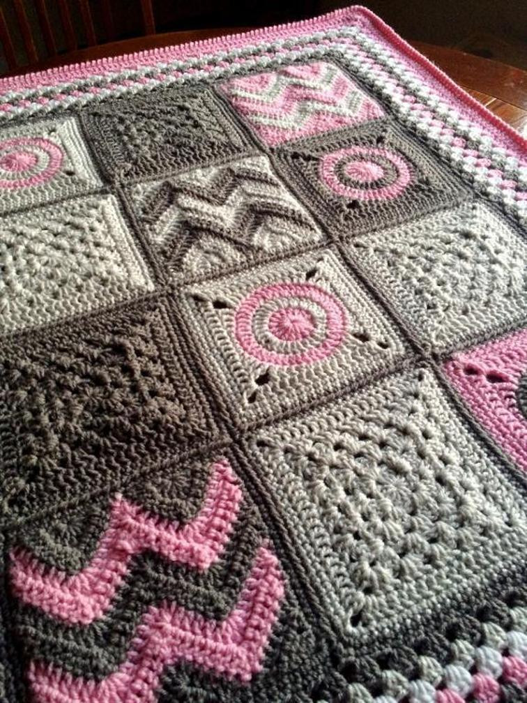 Crochet Afghan Patterns with Pictures Unique Modern Patchwork Blanket Of Gorgeous 43 Photos Crochet Afghan Patterns with Pictures