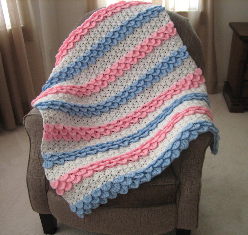 Crochet Afghan Stitch Inspirational Crocodile Rock Crochet Baby Blanket Of Attractive 40 Ideas Crochet Afghan Stitch