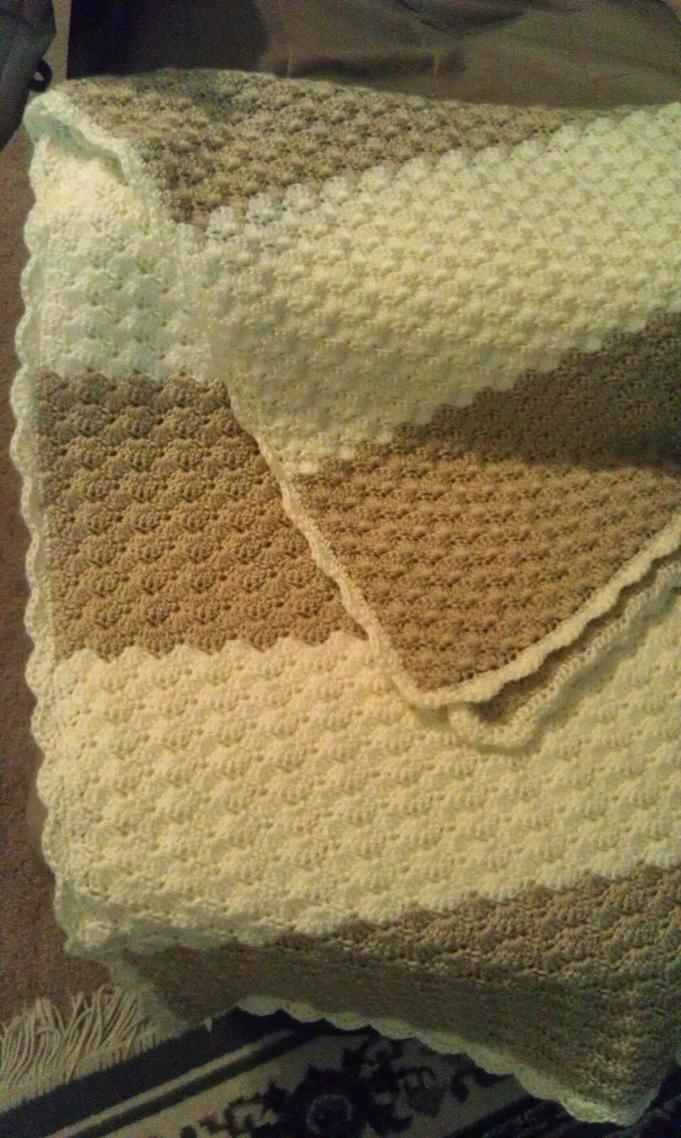 Crochet Afghan Stitch New Finished Crochet Blanket Shell Stitch Of Attractive 40 Ideas Crochet Afghan Stitch