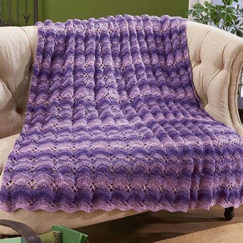 Herrschners Purple Haze Crochet Afghan Kit
