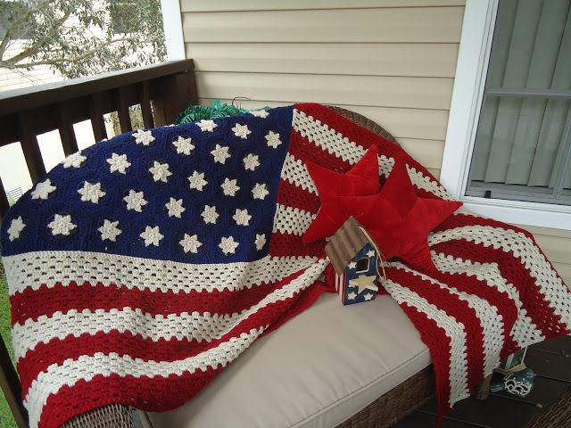 Crochet American Flag Awesome 1000 Images About Crochet Blankets On Pinterest Of Incredible 44 Pics Crochet American Flag