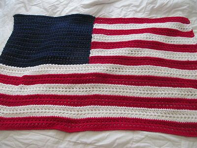 Crochet American Flag Awesome Crocheted Afghans Lap Blanket and American Flag On Pinterest Of Incredible 44 Pics Crochet American Flag