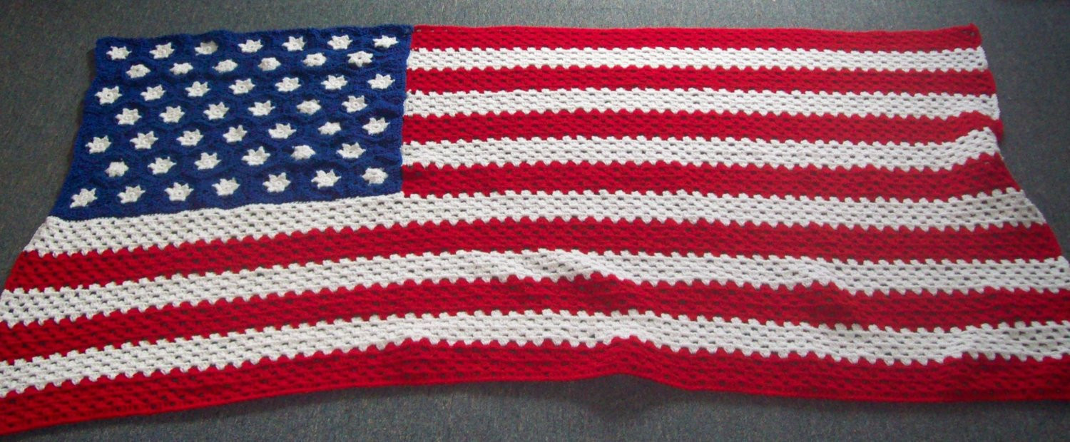 Crochet American Flag Beautiful American Flag Afghan Crochet Afghan Made to order Of Incredible 44 Pics Crochet American Flag