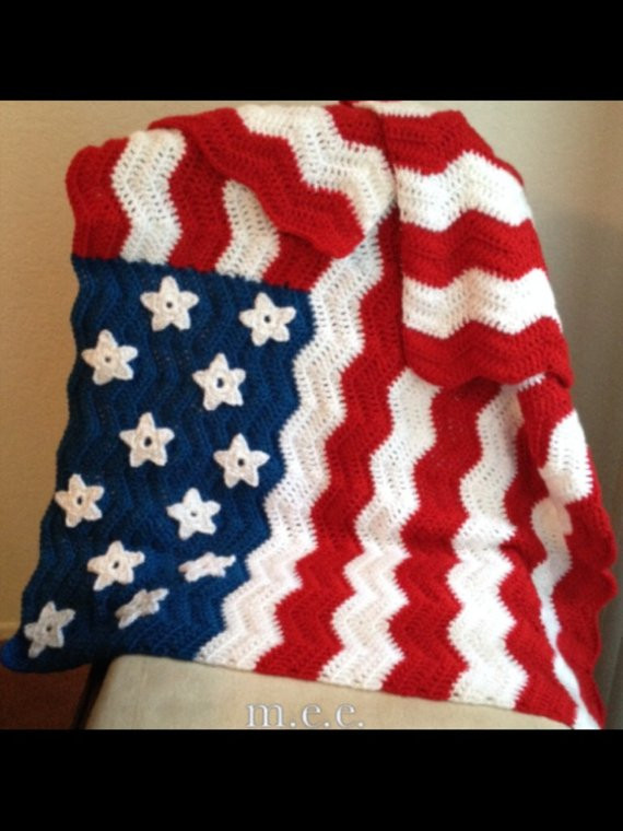 Crochet American Flag Best Of Items Similar to American Flag Inspired Crochet Lap Afghan Of Incredible 44 Pics Crochet American Flag