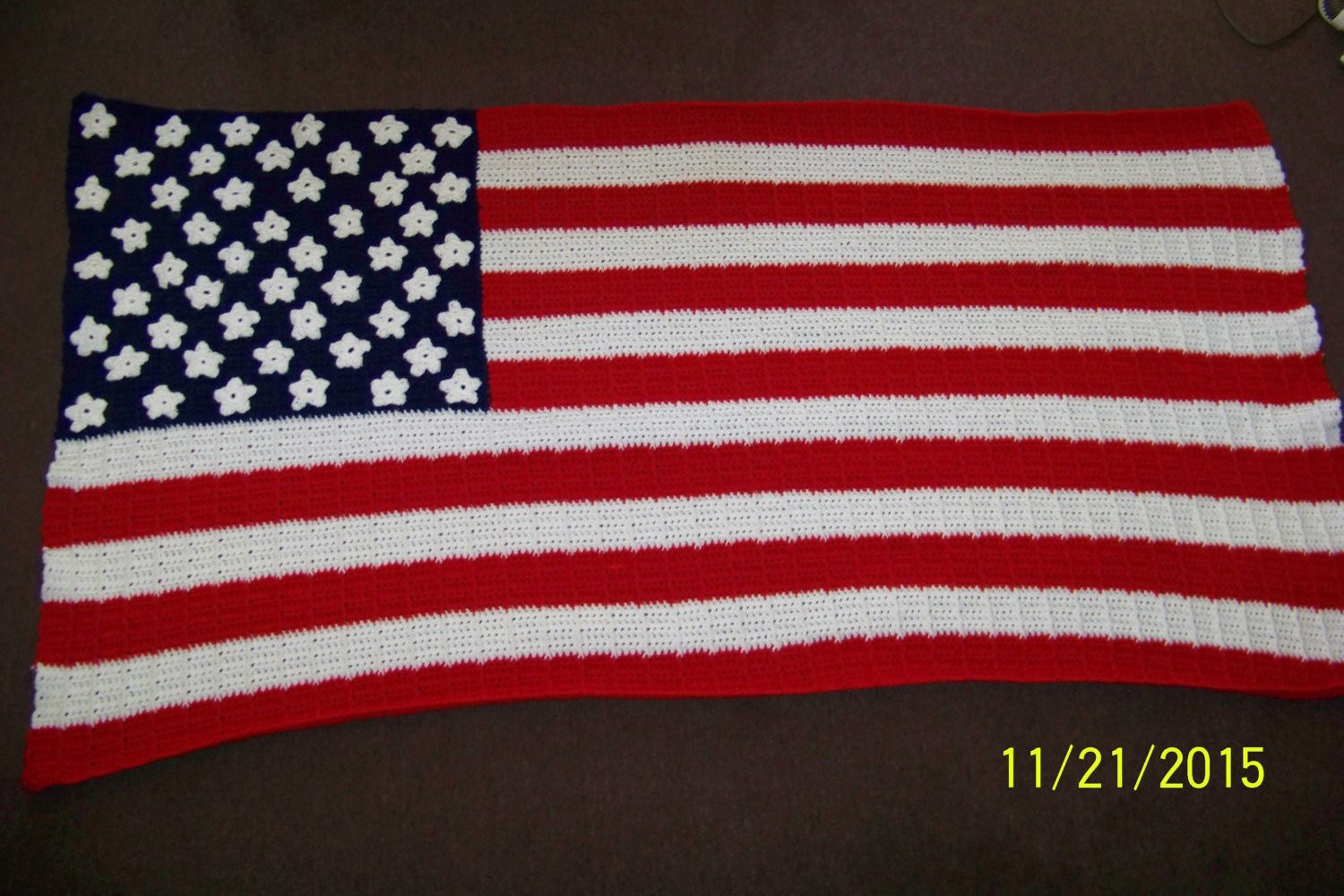 Crochet American Flag Elegant American Flag Blanket Crochet Red White and Blue Of Incredible 44 Pics Crochet American Flag