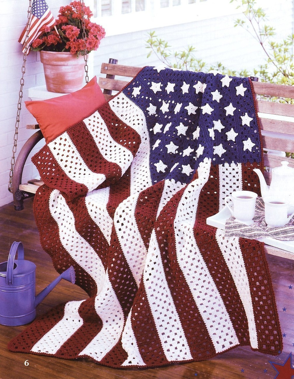 American Pride Afghans Crochet Patterns Book Blankets