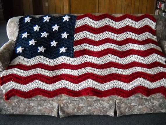Crochet American Flag Inspirational American Flag Pattern for Afghan Q Hook Ripple Crochet 13 Of Incredible 44 Pics Crochet American Flag