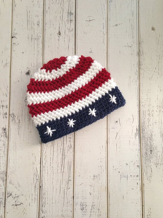 Crochet American Flag Inspirational Fourth Of July Beanie Hats for Baby Boys Page Two Of Incredible 44 Pics Crochet American Flag