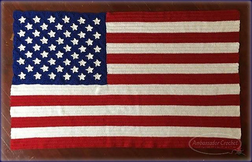 Crochet American Flag Luxury Ravelry American Flag Afghan Pattern by Kristine Mullen Of Incredible 44 Pics Crochet American Flag