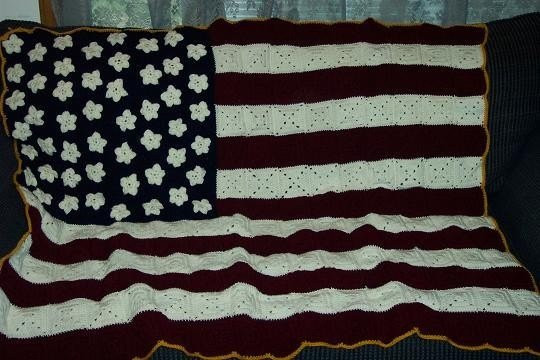 Crochet American Flag New Rustic American Flag Crocheted Granny Square Afghan Made to Of Incredible 44 Pics Crochet American Flag