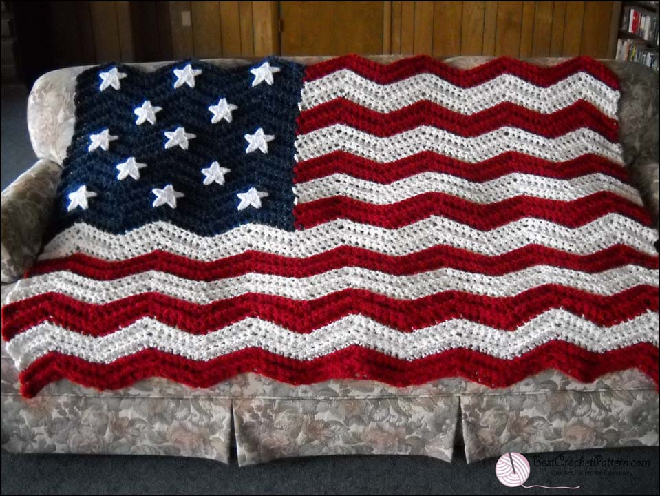 Crochet American Flag Unique American Flag Crochet Pattern Of Incredible 44 Pics Crochet American Flag
