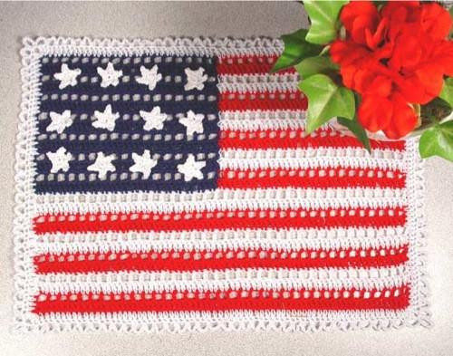 Crochet American Flag Unique American Flag Doilies Crochet Pattern – Maggie S Crochet Of Incredible 44 Pics Crochet American Flag