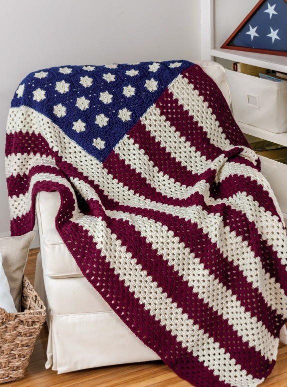 Crochet American Flag Unique Craftdrawer Crafts Honoring Our Veterans Crochet Afghan Of Incredible 44 Pics Crochet American Flag