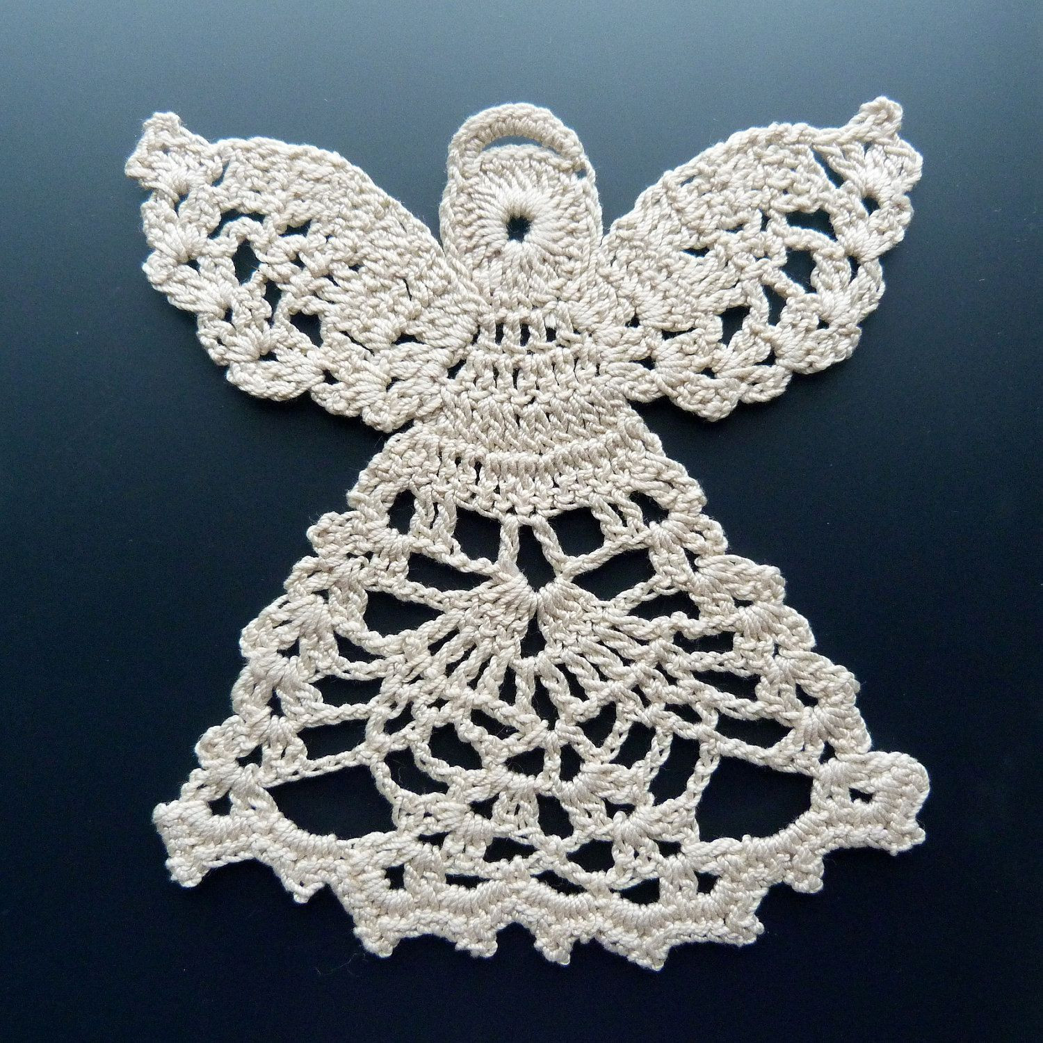 Crocheted Doily Angel in Lace angels