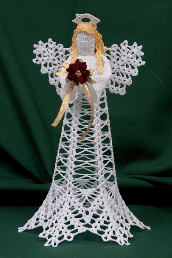 Crochet Angel Pattern Unique Items Similar to 0618 Ice Crystals Winter Angel Crochet Of Brilliant 43 Pictures Crochet Angel Pattern