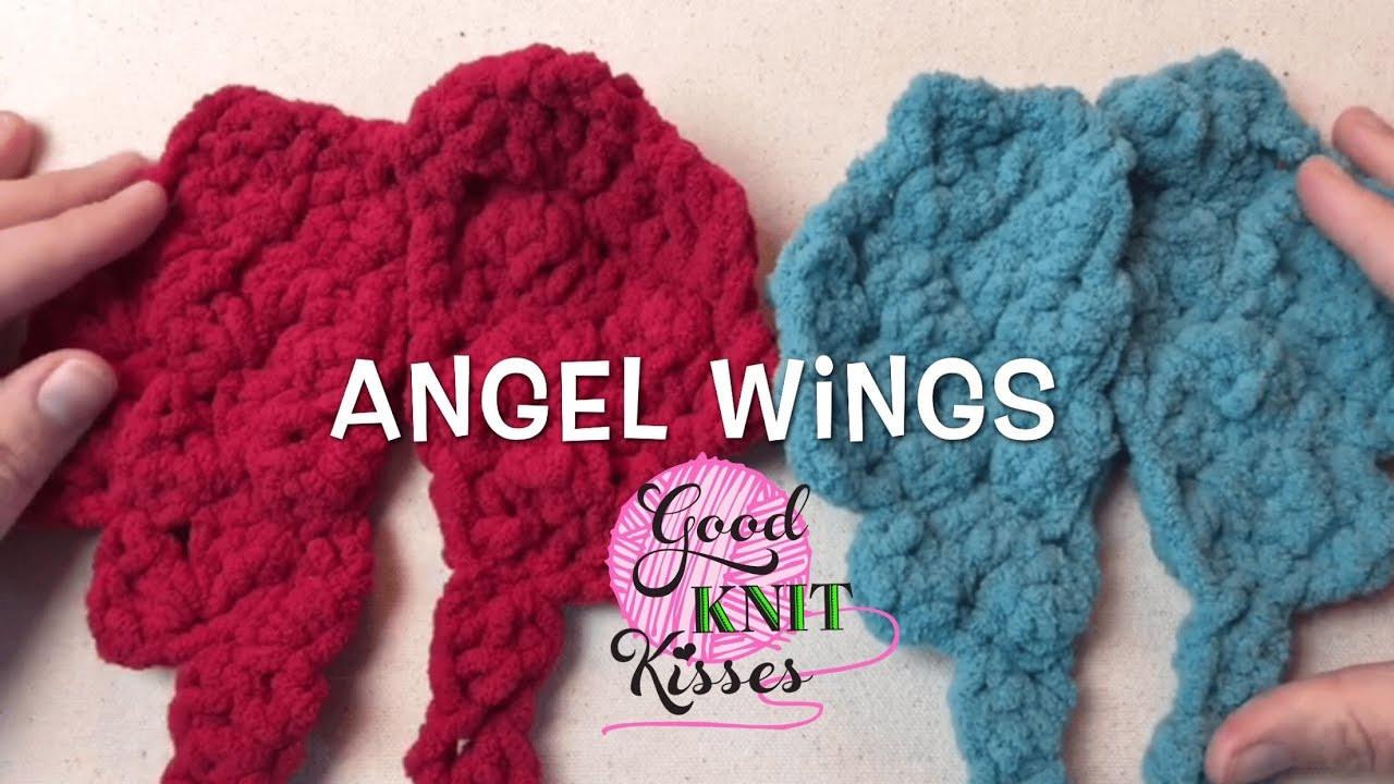 How to Crochet Angel Wings 2 sizes Infant and SUPER