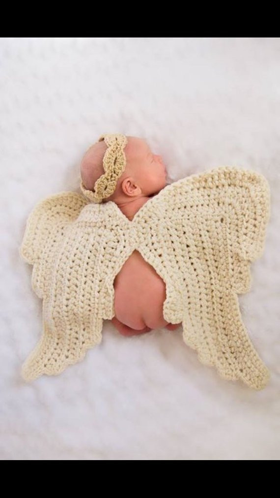 Crochet Angel Wings Lovely Crochet Oversize Angel Wing and Halo Baby Prop Blanket Of Charming 49 Images Crochet Angel Wings